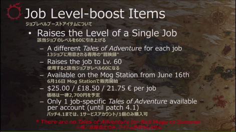 Job-level Boost Items