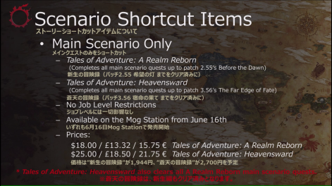 Scenario Shortcut Items